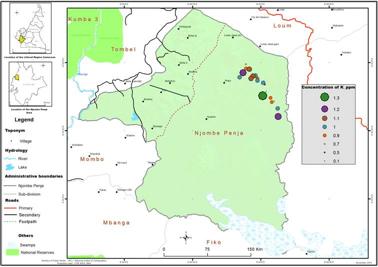 Preliminary survey for uranium in cretaceous sandstones of bonako distribution of thorium concentrations in the sandstones within the bonako nyanga and sole areas southwestern cameroon ccuart Image collections
