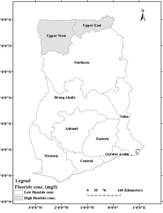 Geographical Distribution Of Fluoride In Ghana