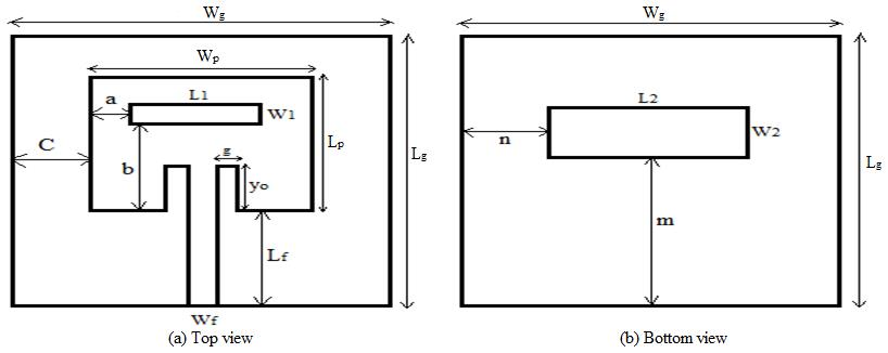 Compact Rectangular Slot Patch Antenna for Dual Frequency Operation